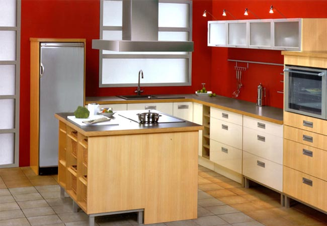Sharon interior modular kitchen for Italian kitchen design india
